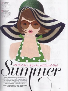 InStyle / July 2012 - Illustrations by Anna Bond